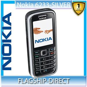Nokia 6233 Black Mobile Phone Unlocked Original Camera Radio Games Cell Phone