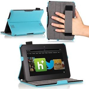"Kindle Fire Moko Slim Fit Folio Cover Case Kindle Fire HD 7"" Tablet Blue"