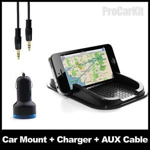 Anti Skip Car Mount Pad USB Charger Aux Cable Car Kit for Nokia Lumia 920