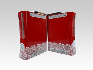 Shinny Flower Skin Sticker Decal Cover for Xbox 360 Game Console Case Protector