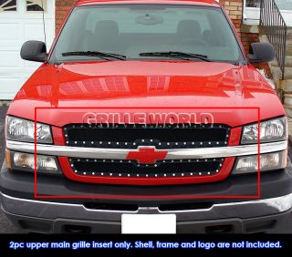 03 06 Chevy Avalanche 03 05 Silverado 1500 SS 03 04 2500 Rivet Mesh Grille Grill