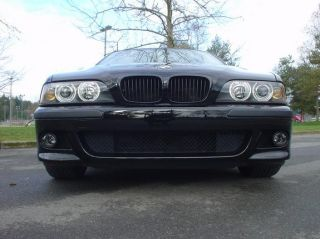 97 03 BMW E39 Wider M5 Euro Black Shadow Front Grille Kidney Sports Hood Grill