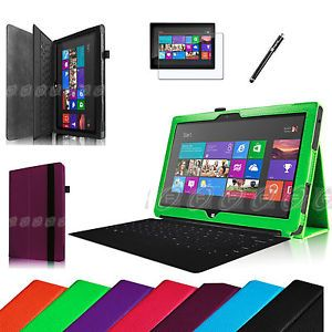 For Microsoft Surface RT Surface 2 10 6 inch Tablet PU Leather Cover Case Film