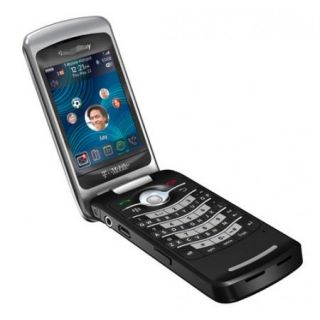 Black Unlocked Original BB Pearl 8220 Tmobile Flip GSM Camera WiFi Mobile Phone