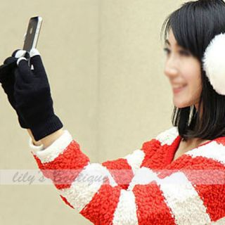 Touch Screen Gloves Mitten Winter Warm Soft for iPhone Galaxy Smartphone Tablet