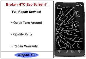 HTC EVO Broken Glass Screen Repair Service
