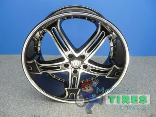 2 Versante 226 20x9 5 Brand New Wheels 5x120 Offset 25 Black Machined Rims