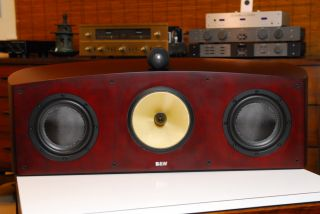 Bowers Wilkins HTM1 Center Speaker Red Cherry Near Mint Box Manual