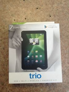 "Trio Stealth G2 7"" Android Tablet New Dual Core Tablet Android 4 0"