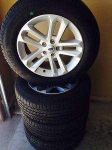 "Ford Explorer 18"" XLT Factory Wheels Rims and Michelin Tires 2011 2012 2013 14"