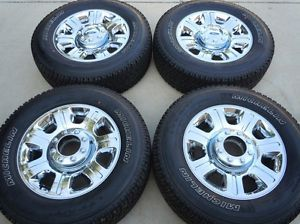 "2014 F250 F350 20"" Factory Chrome Clad Wheels Michelin Tires New Take Offs TPMS"