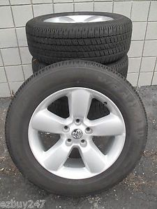 "20"" Dodge RAM 1500 Factory 2013 Wheels with Goodyear Tires 2451 112701"