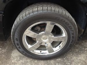 "2004 Chevy SS Silverado 20"" Chrome Wheels and New Goodyear Tires Great Condition"