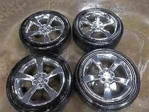 "04 08 Nissan Maxima 18"" Chrome Wheels w Goodyear Tires"