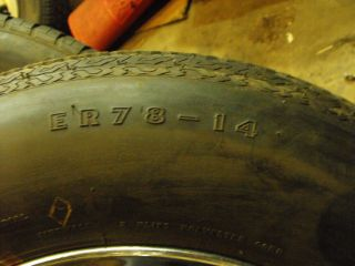"Vintage Cragar s s Wheels Goodyear Tires 14x6"" GM 4 3 4"" Awesome GM ""A F"" Body"