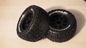 Dynamite Speedtreads 1 10 12mm Hex Monster Truck Tires Wheels Ruckus ECX43008