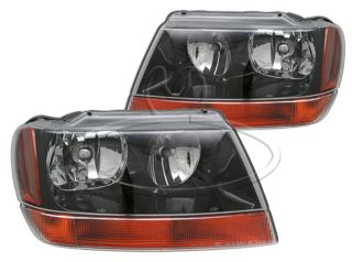 New Replacement Headlight Assembly Pair for 1999 02 Jeep Grand Cherokee Laredo