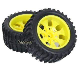 4pcs RC Rubber Sponge Tires Tyre Wheel Rim HSP 1 10 Monster Bigfoot Truck 88012