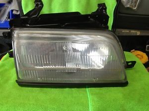 1986 1987 Honda Civic Headlight Assembly Passenger Side with Black Trim
