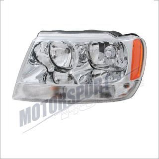 1999 2004 Jeep Grand Cherokee Limited Driver Side Headlight Assembly Chrome Left