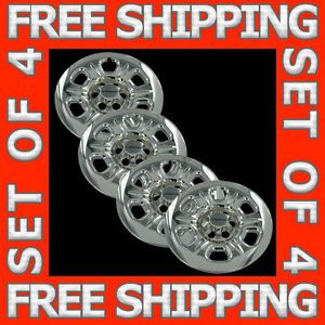 "05 11 Nissan Frontier Xterra 16"" Chrome Wheel Skin Hubcaps Covers Hub Caps Set"