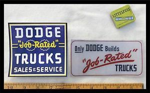 1940 1950's Dodge Truck Decals Pair Pickup Panel w B Series Power Wagon 1960