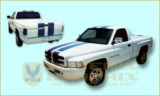 1997 1998 Dodge RAM SS T Style Truck Decals Stripes Kit