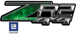 Details about ZR2 4x4 Chevy GMC Truck Decals Fire Green OLP005