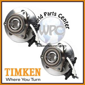 TIMKEN 2 Front Wheel Bearing Hub Assy Ford Expedition Lincoln Navigator 4WD ABS