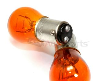 2 1157 A Orange Amber Bulbs for Auto Car Motorcycle Turn Signal Parking Lights
