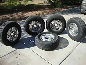 5 Factory Wheels Firestone Tires Chevy Tahoe Truck Suburban 95 96 97 98 99 AZ