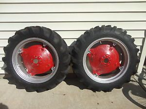 Farmall Cub Rear Tires Rims Hubs 8 3 x 24 L Nice Firestone in MI