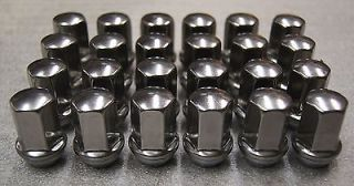 9596070 24 GM Chevy GMC Cadillac Factory Polished Stainless 14x1 5 Lugs Lug Nuts