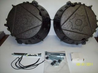 J Wheelz ATV UTV 6 Wheel Sidexside Mud Tires Snow Flotation Add on Kit Rears