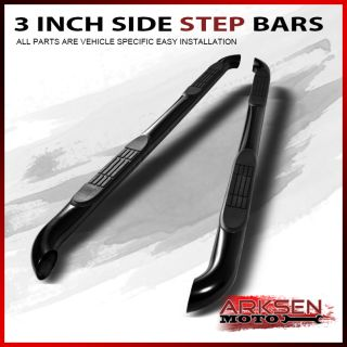 09 14 Dodge Journey Black Coated 3 inch Side Step Bars Rail Running Board Pair