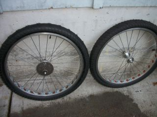 RARE Cane Creek Crono Mountain Bike Snow Cat Wheel Set Snow Mud Tires Very Nice