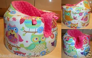 Lovely Handmade Bumbo Baby Girl Seat Cover Owls Pink Baby Shower New Mum