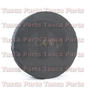 Black Denim w Jeep Logo Spare Tire Cover 2007 2013 Jeep Wrangler 82209949AB