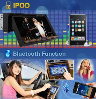 "1 DIN Indash 7""Touch Screen Car Stereo DVD Player FM Am iPod Bluetooth Head Unit"