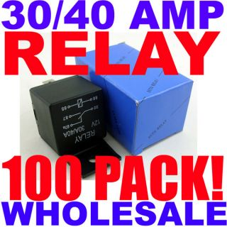 100 Pack SPDT 12 Volt 30 40 Amp Heavy Duty Relay 100 PC Best Quality Free SHIP