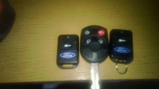2 Original Ford Remote Starter Key Fobs Ford Fusion 4 Button Remote w Key