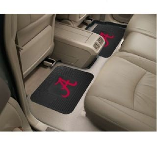 Alabama Crimson Tide 2 PC Heavy Duty Utility Vinyl Car Truck Rear Floor Mats