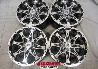 4 Used 17x9 6x139 7 6 139 7 Buckshot Black Machined Face Wheels Rims