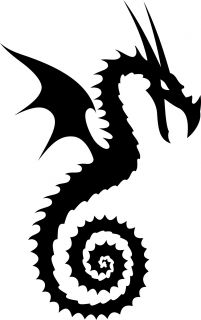 Tribal Dragon Serpant Car Truck Hood Vinyl Decal Sticker  372004