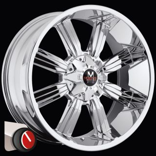 22x10 Offroad Monster M03 Chrome Wheels Ford F250 F350 8x170 13