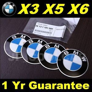 X4 New Genuine BMW Wheel Center Cap Emblems x Series x1 x3 x5 x6 E53 E70 E83 E84