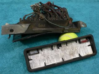 Mercedes W114 Other Chassis Fuse Panel w Cover Mount Plate Good Used Cond