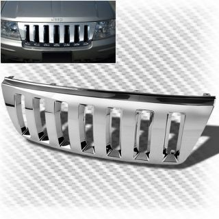 99 04 Jeep Grand Cherokee Chrome ABS Plastic Grille Hood Replacement Grill Set