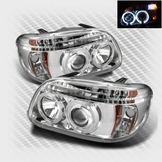 1995 2001 Ford Explorer Twin Halo LED Projector Headlights Head Lights Lamp Pair