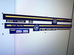 New York State Police Car Decals 1 18